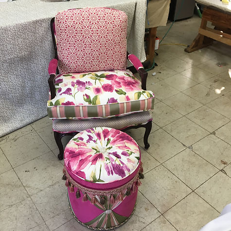 Pink chair and stool.JPG