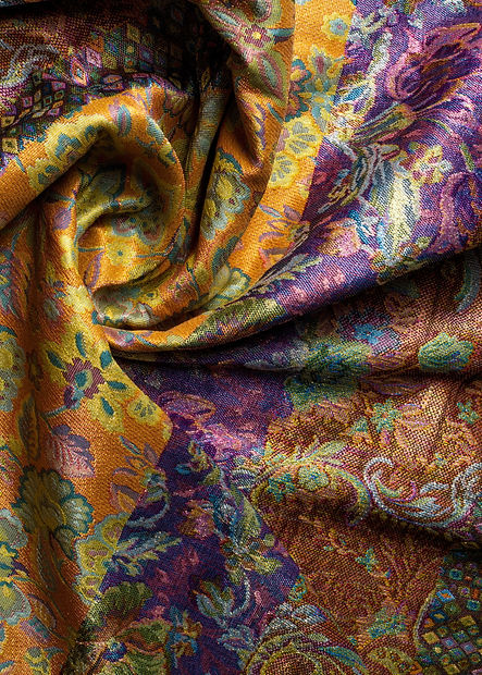 brocade fabric texture.  painted with a