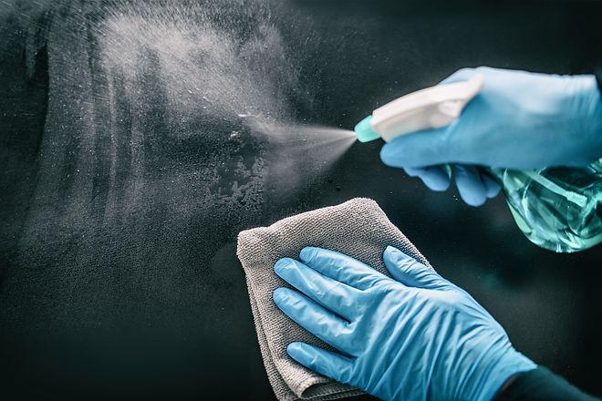 Surface home cleaning spraying antibacte
