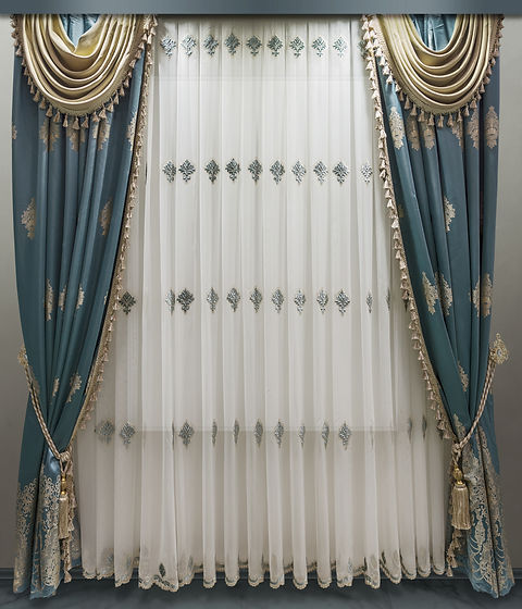 Interior decoration in classical style.