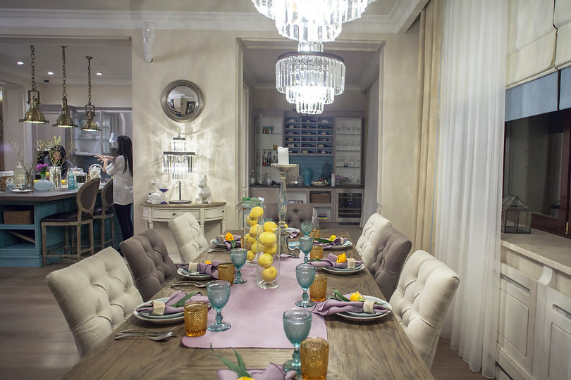 Dining room in classic and luxury style,