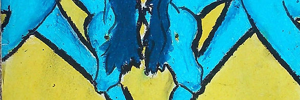 Dessin d'enfance de Saône de Stalh, sculpteur-plasticienne