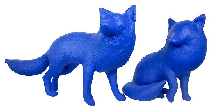 Sculptures de renards de Saône de Stalh