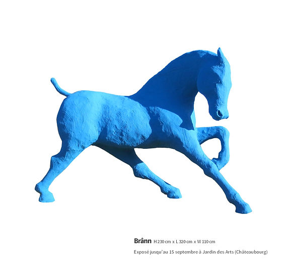 Brann, sculpture de cheval par Saone de Stalh