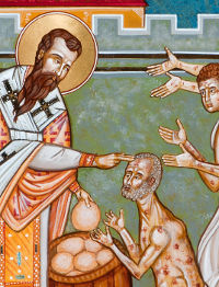 St. Basil the Great healing the lepers