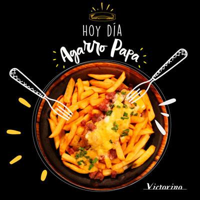 Grafica de Papas Lastarria para Bar Victorino