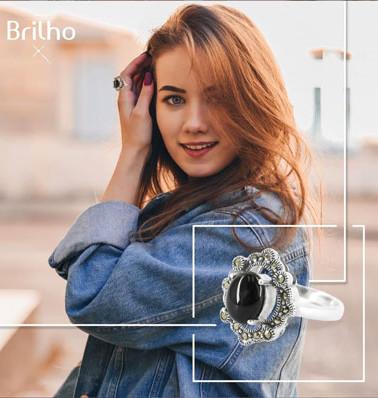 Gráfica de anillo de plata para Brilho
