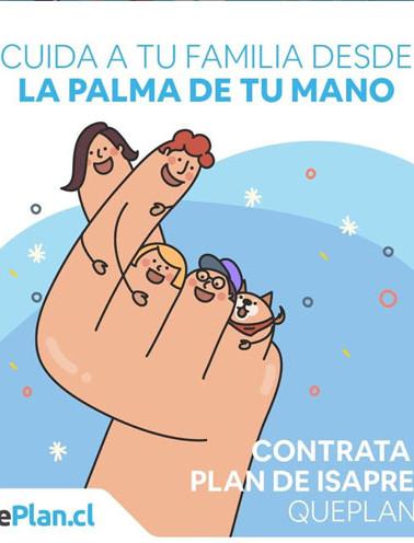 Gráfica cuida desde la palma de tu mano para QuePlan.cl