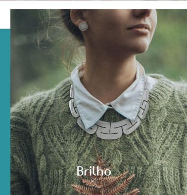 Gráfica de collar de plata para Brilho