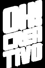 Logo blanco sin fondo de agencia de publicidad Oh creativo