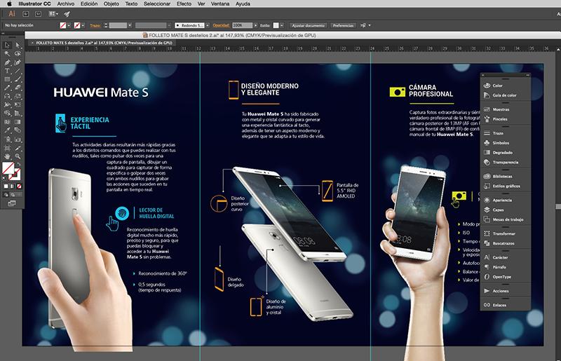 Interior diseño folleto Huawei Mate S