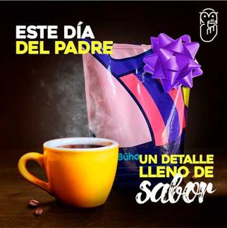 Gráfica para el Día del Padre Café Búho