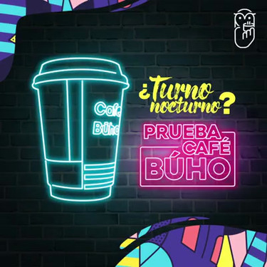 Post animado para pauta mensual de Café Búho