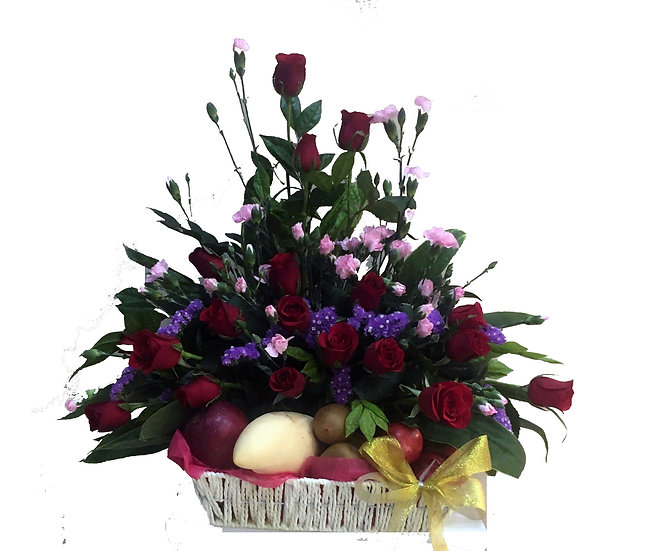 Fruit N Floral Basket 2801