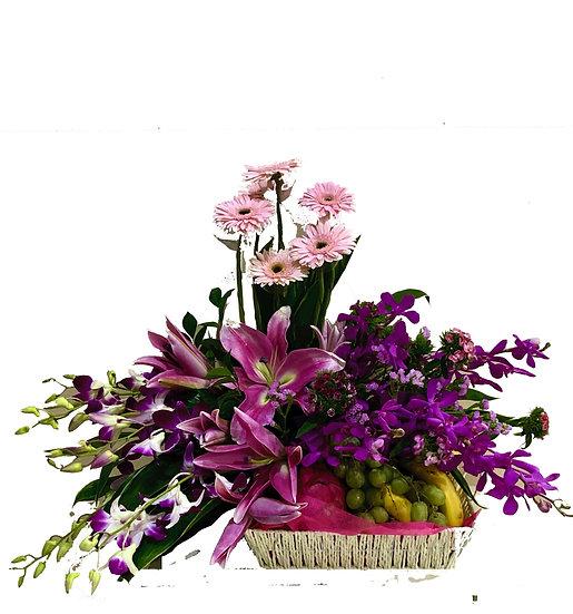 Fruit N Floral Basket 3801