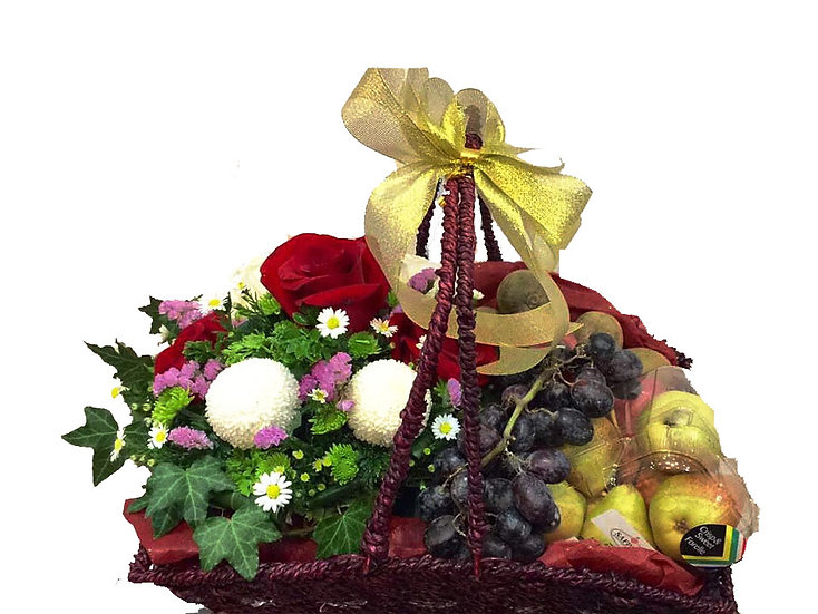 Fruit N Floral Basket 1701