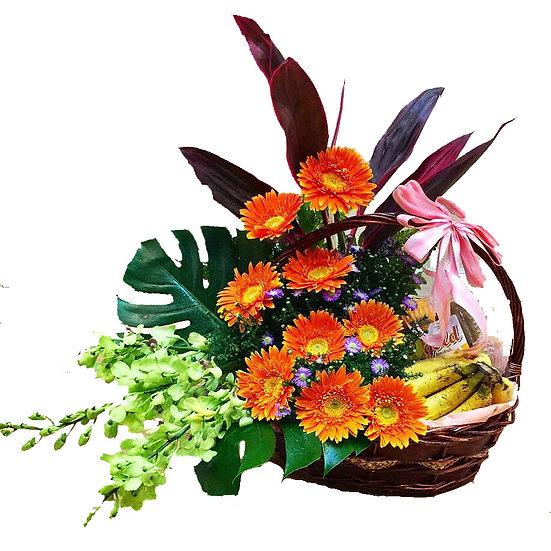 Fruit N Floral Basket 1801