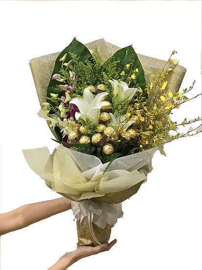 Chocolate Bouquet - The Golden Lily