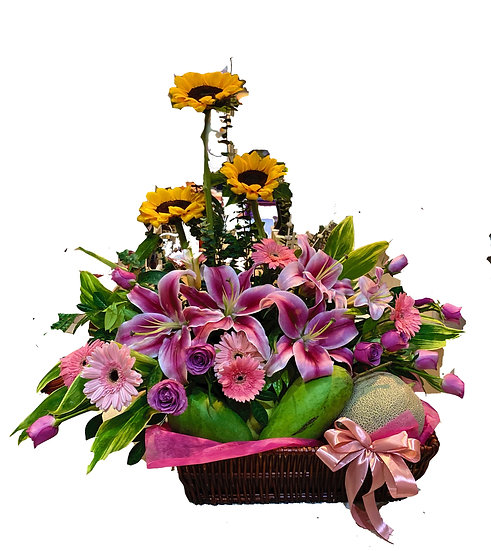 Fruit N Floral Basket 4501