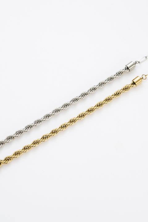 Bracelet chaînes torsadées doré