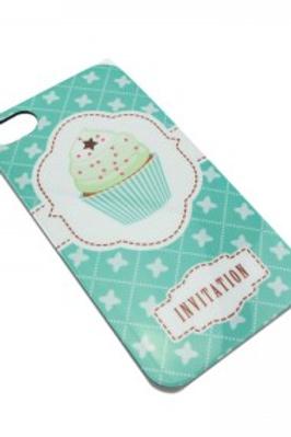 Coque imprimé cupcake vert pour Iphone 4 4/S