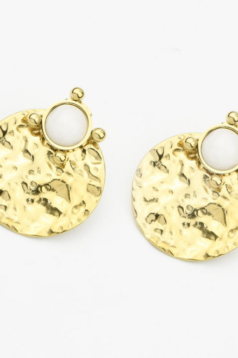 Boucles d'oreilles martelée doré