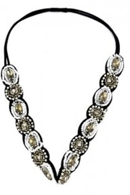 Headband fleurs en perles argent