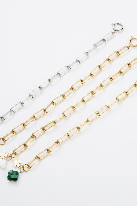 """Bracelet """"Trèfle"""" Blanc et doré"""