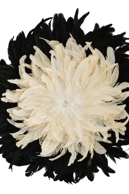 Grand juju hat noir et beige : 60cm