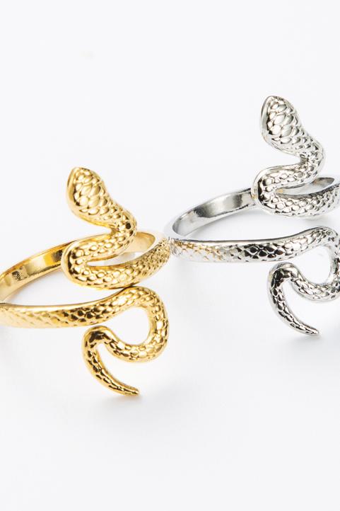 "Bague ""Serpent"" dorée"
