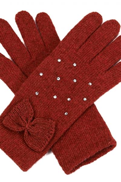 Gants noeud rouge/orangé