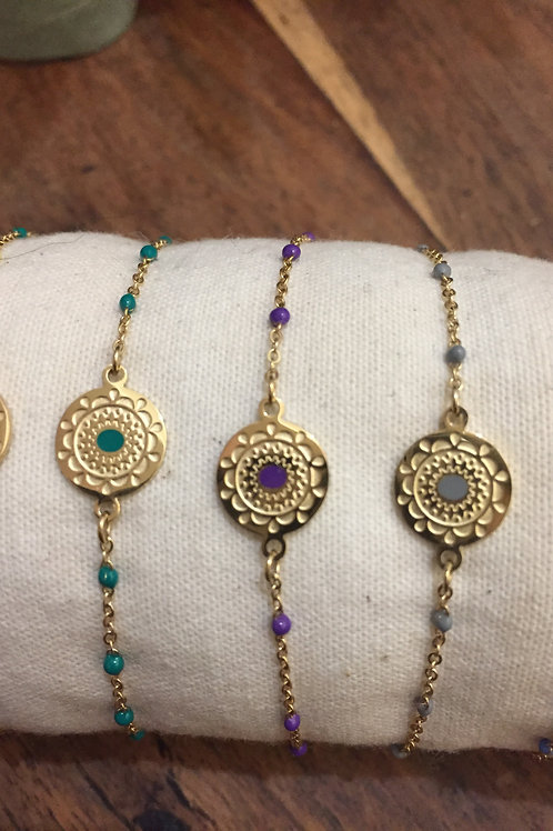 """Bracelet """"Argentine"""" violet"""