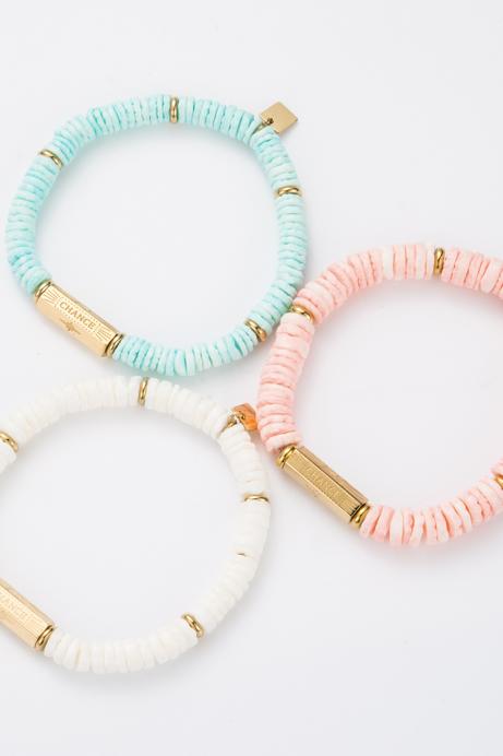 """Bracelet """"Chance"""" bleu"""