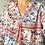 Thumbnail: Robe motif fleuri rose et bleu