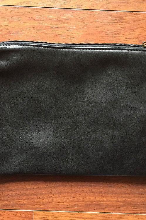 Pochette simili cuir noir