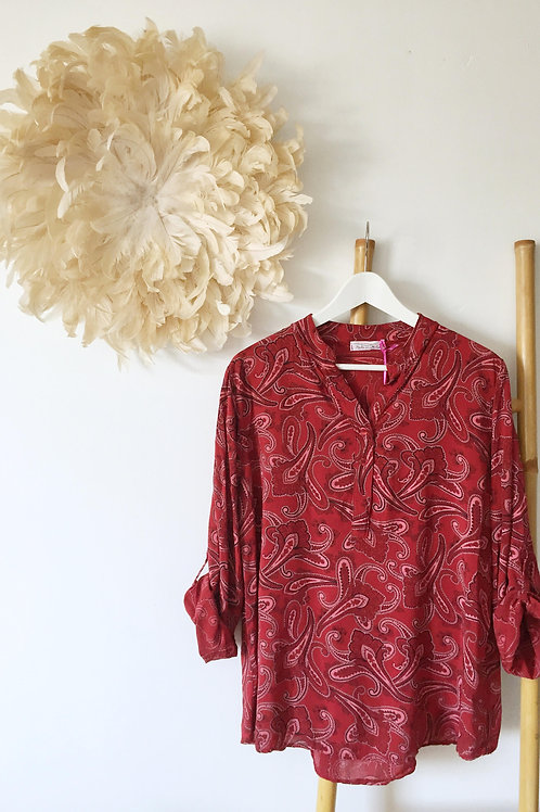 "Blouse ""Hailey"" rouge"