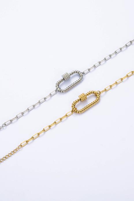 Bracelet mousqueton doré