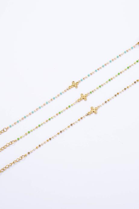 "Bracelet ""Croix"" beige"