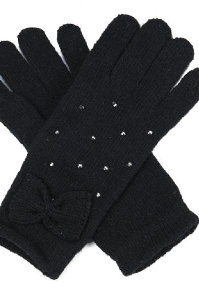 Gants noeud noir