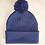 Thumbnail: Bonnet bleu marine à pompon