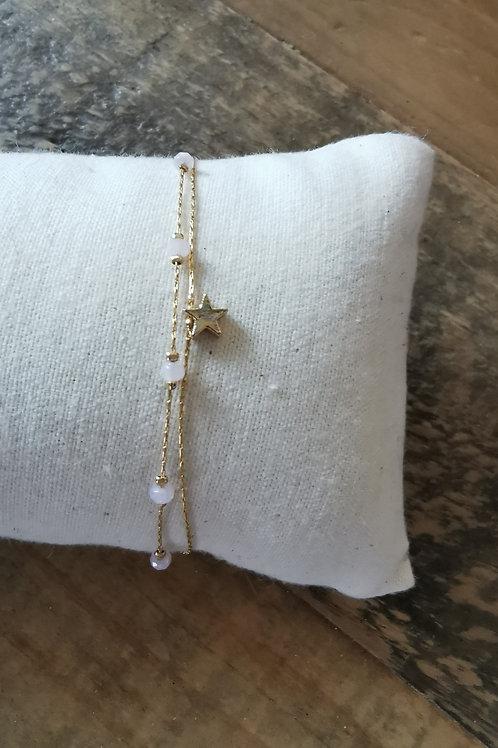Bracelet étoile rose/doré