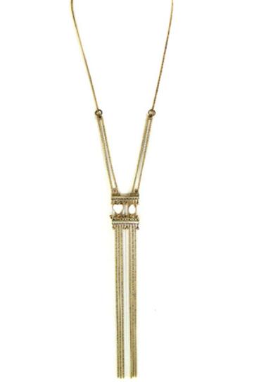 Sautoir fines chaînes bronze