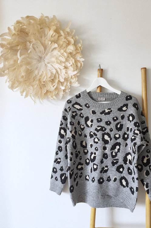"Pull ""Adele"" gris"