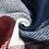 Thumbnail: Echarpe à carreaux bleu marine et bordeaux