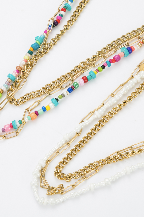 Collier perle multicolor