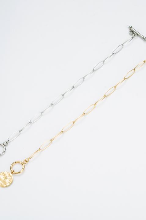 Bracelet chaîne médaillon doré