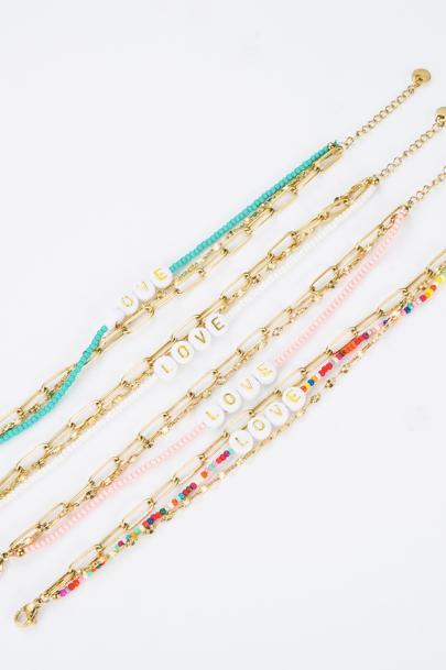 "Bracelet ""Love"" multicolor"