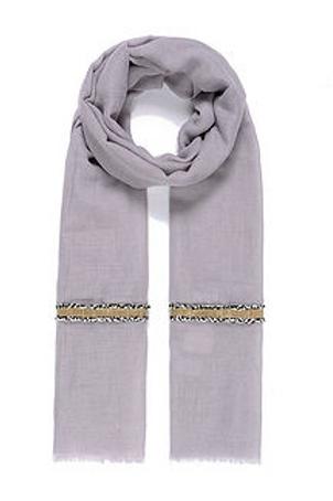 Foulard gris à liseré doré