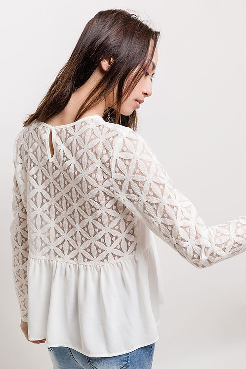 "Blouse ""Isa"" blanche"