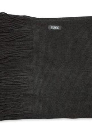 Echarpe à frange noir